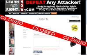 Learn2FIghtNow.com Closed
