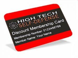 High Tech Self-Defense Discount Membership Card