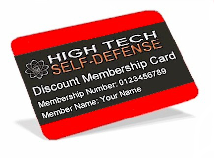 High Tech Self-Defense Discount Membership Card